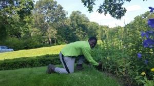 Marcus enjoying planting.