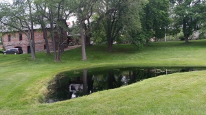 The beautiful pond at Adams.