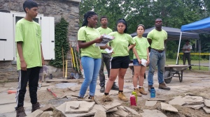 The stone patio group's teach-back presentation.