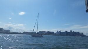 A sailor at sea.