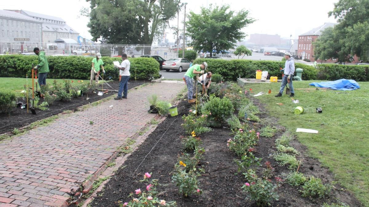 Commandants house garden redesign project for Garden redesign